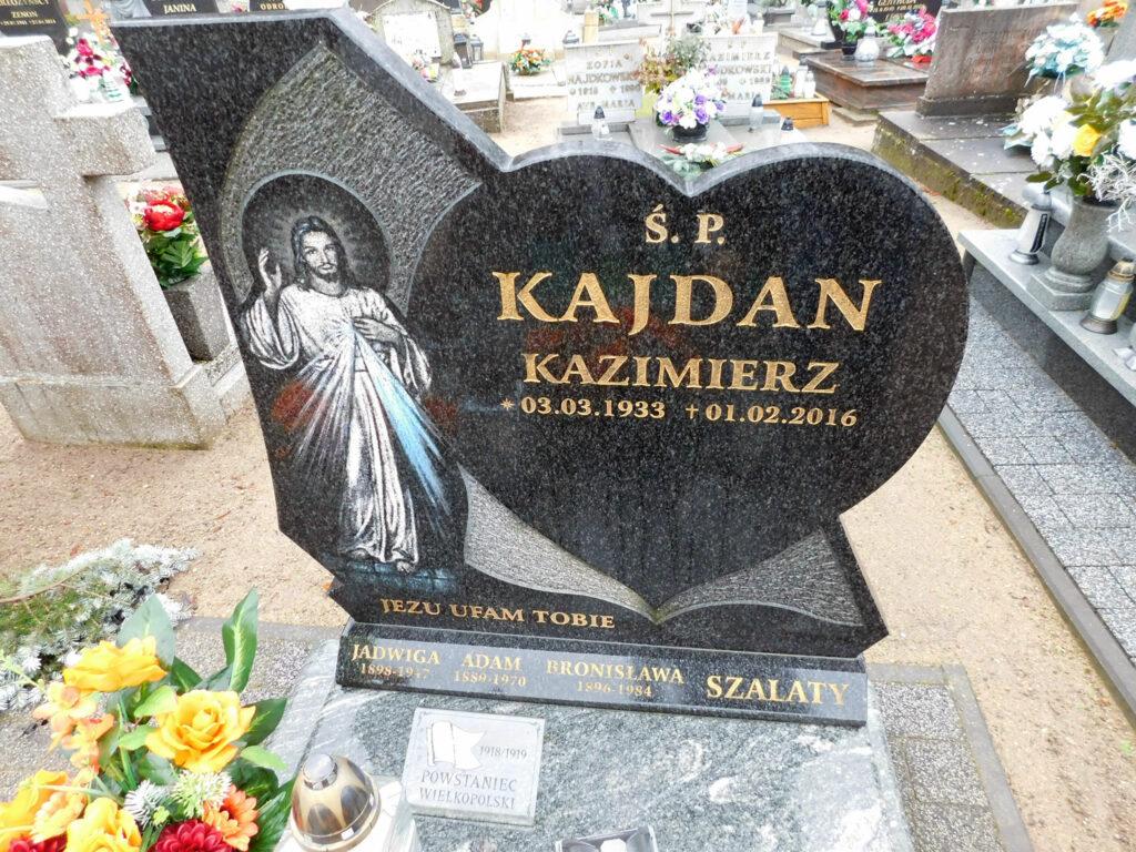 Adam Szalaty - cmentarz parafialny w Nekli (zdjęcie udostępnił Remigiusz Maćkowiak)