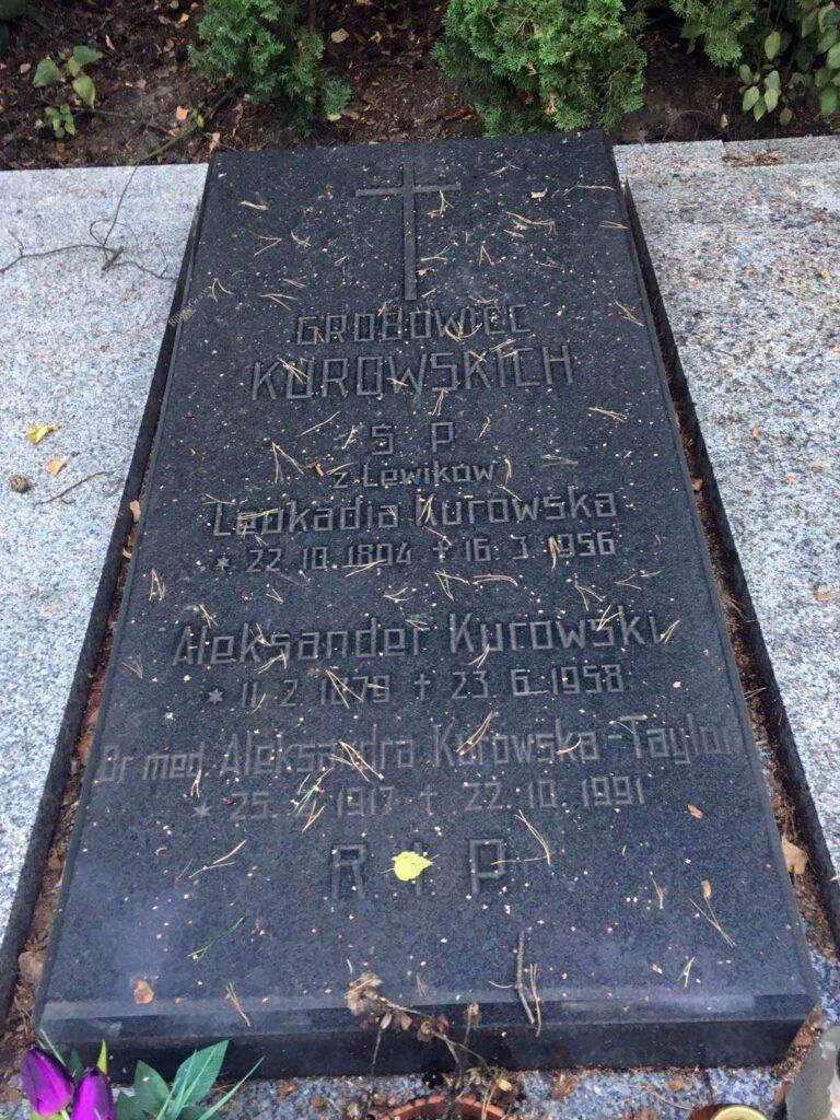 Aleksander Kurowski - cmentarz Junikowski w Poznaniu