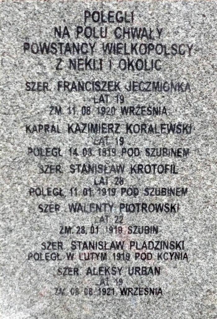 Aleksy Urban - grób Powstańców Wielkopolskich w Nekli (zdjęcie udostępnił Remigiusz Maćkowiak)