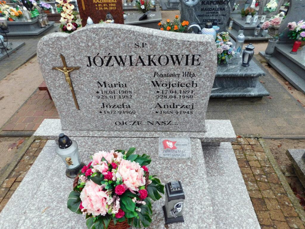 Andrzej Jóźwiak - cmentarz parafialny w Nekli (zdjęcie udostępnił Remigiusz Maćkowiak)