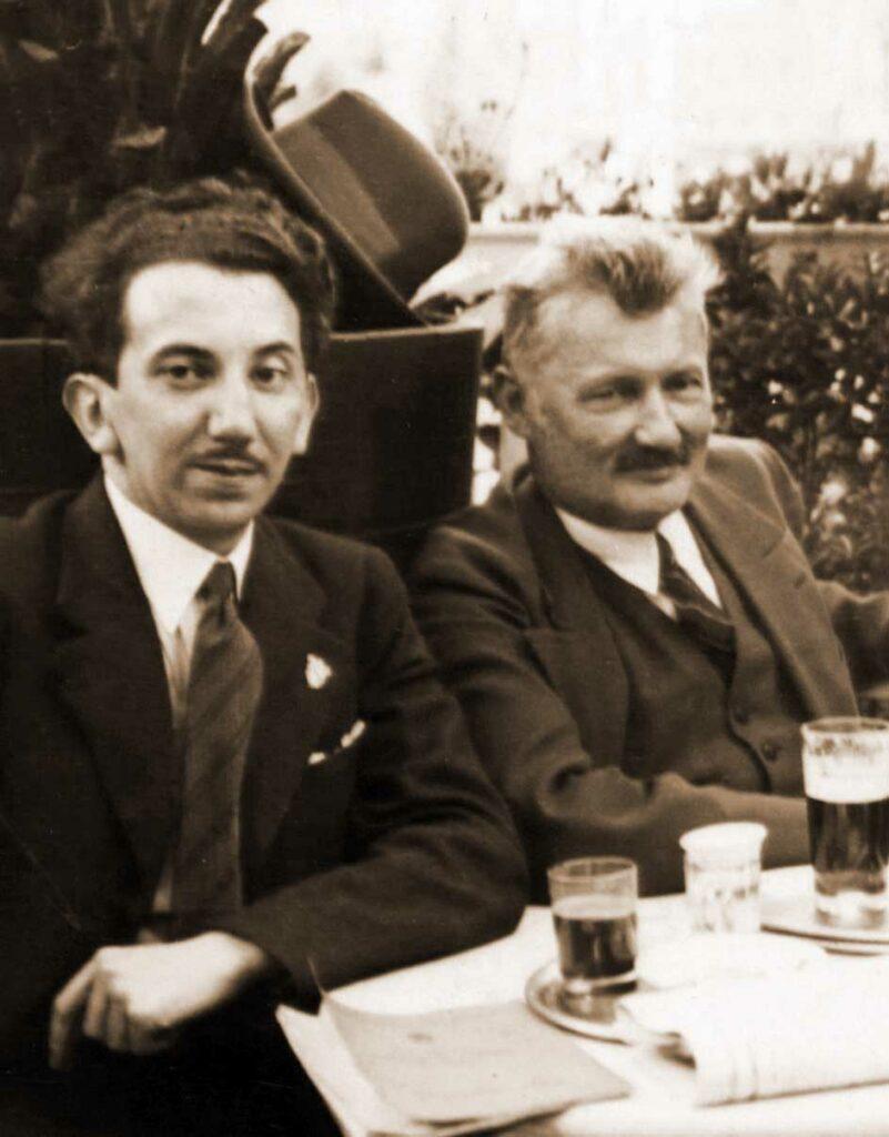 Andrzej Prądzyński (po prawej) i Marian Turwid
