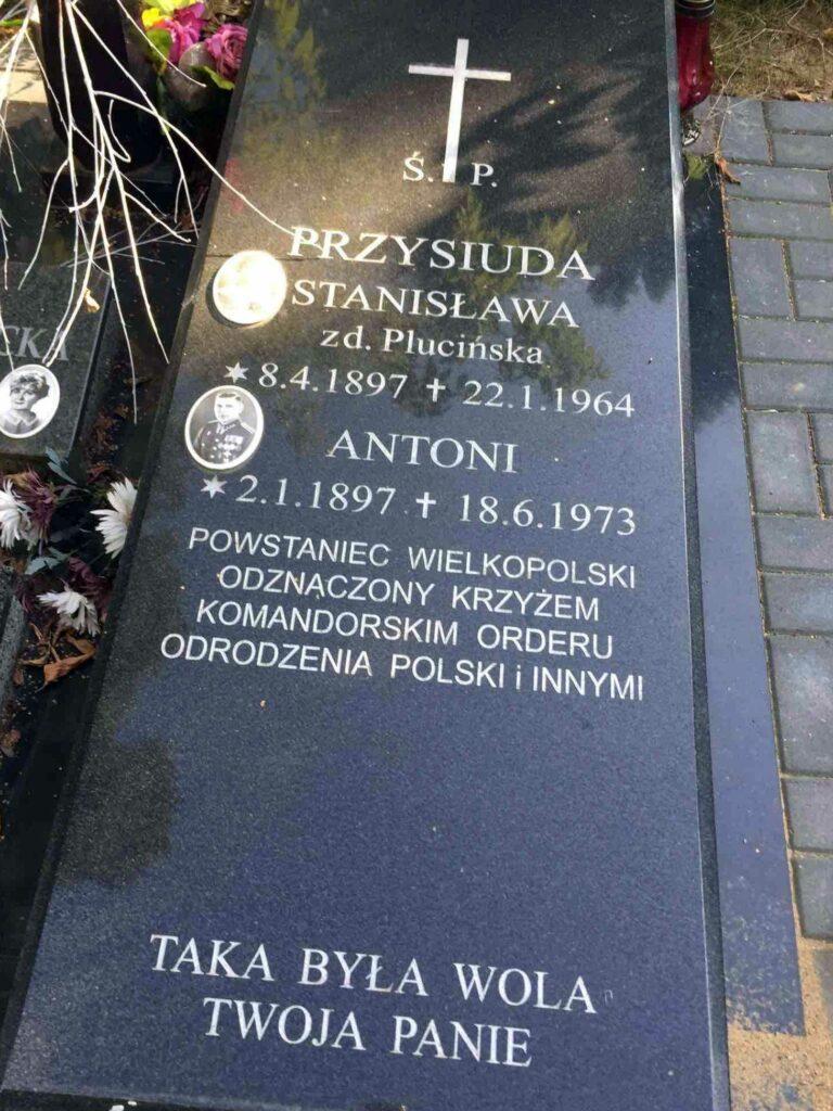Antoni Przysiuda - cmentarz Junikowski w Poznaniu
