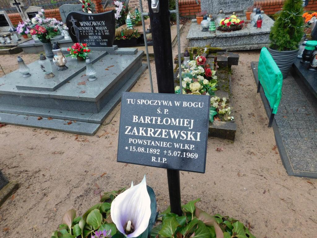 Bartłomiej Zakrzewski - cmentarz parafialny w Nekli. (zdjęcie udostępnił Remigiusz Maćkowiak)
