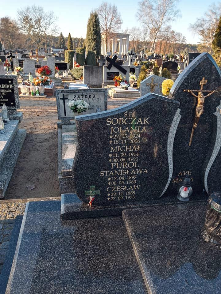 Czesław Purol - cmentarz parafialny w Jarocinie (zdjęcie udostępniła wnuczka Aldona Błażejewska)