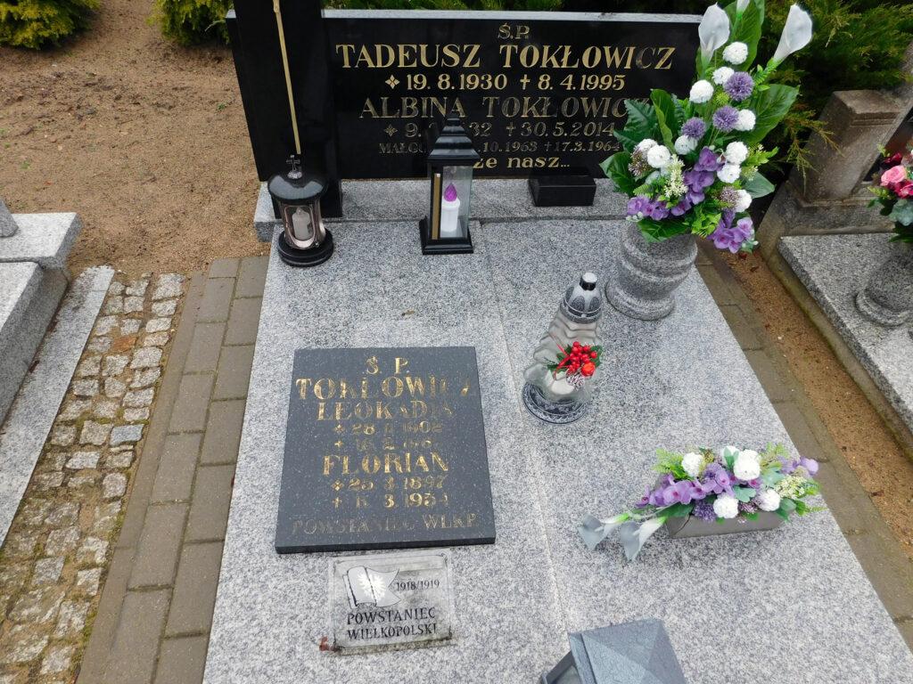 Florian Tokłowicz - cmentarz parafialny w Nekli (zdjęcie udostępnił Remigiusz Maćkowiak)