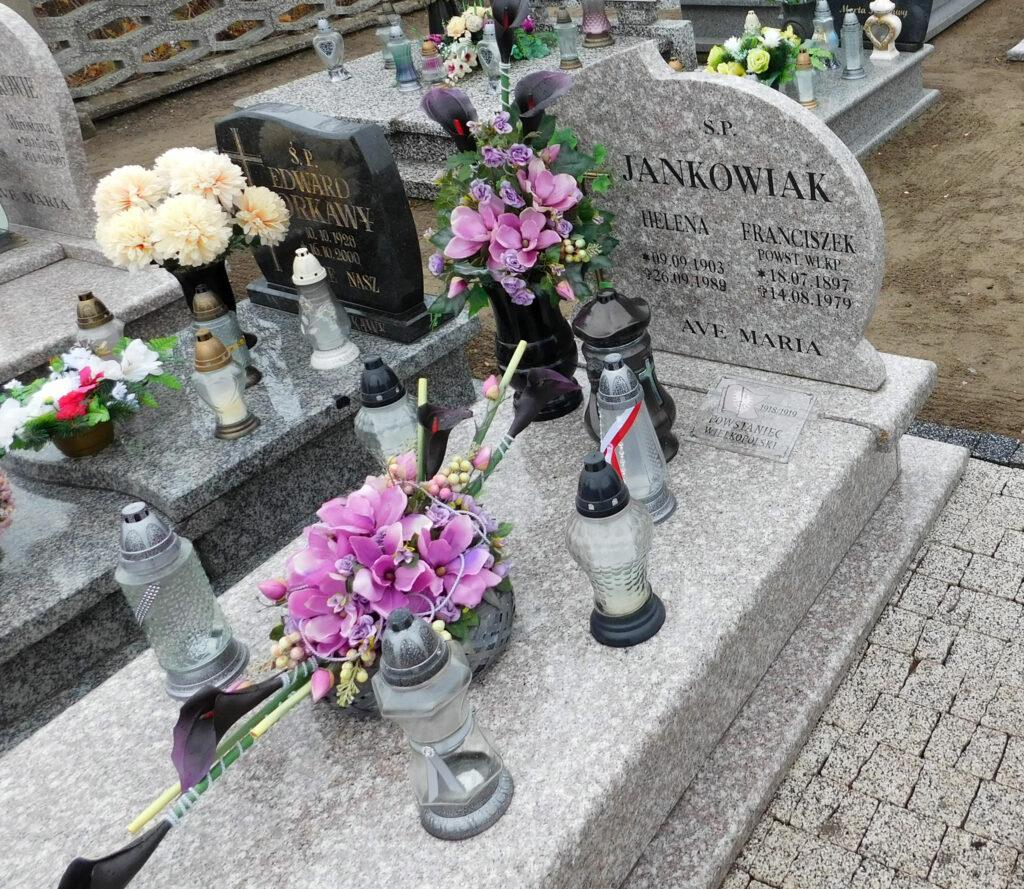 Franciszek Jankowiak - nowy nagrobek, cmentarz w Kołaczkowie (zdjęcie udostępnił Remigiusz Maćkowiak)