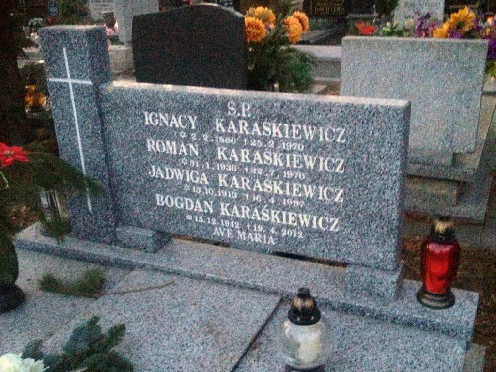 Ignacy Karaśkiewicz - cmentarz Górczyński w Poznaniu
