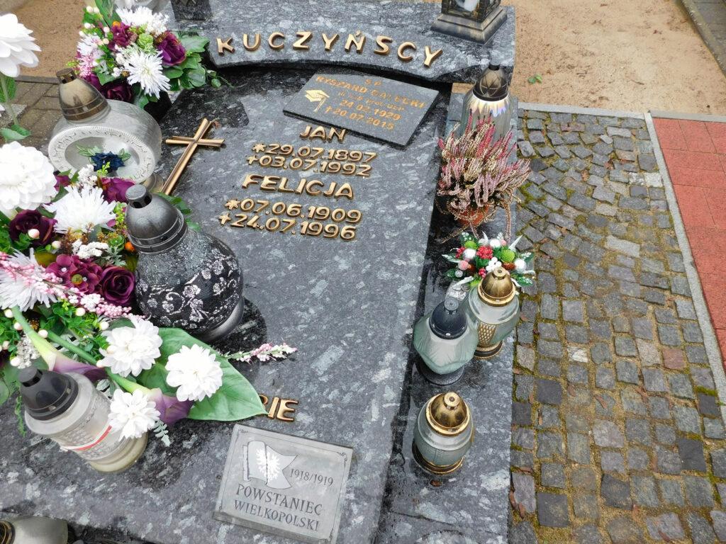 Jan Kuczyński - cmentarz parafialny w Nekli. (zdjęcie udostępnił Remigiusz Maćkowiak)
