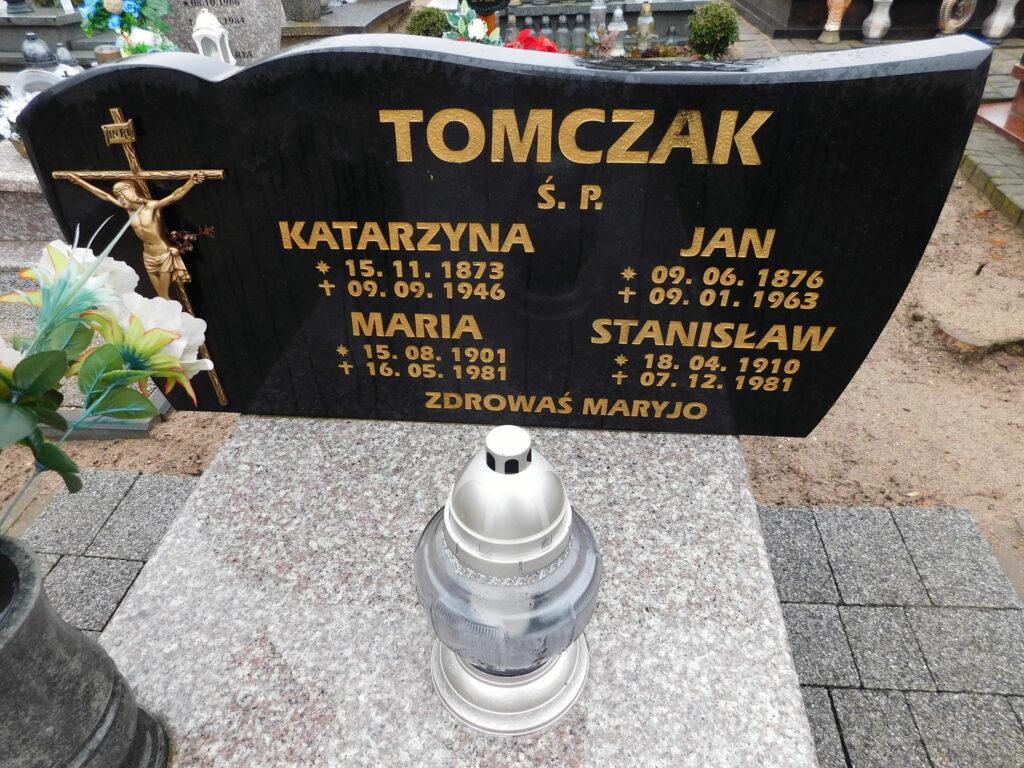 Jan Tomczak - cmentarz parafialny w Nekli (zdjęcie udostępnił Remigiusz Maćkowiak)