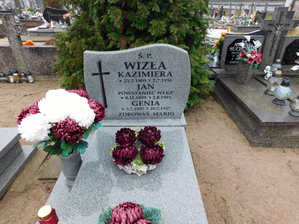 Jan Wizła - cmentarz parafialny w Nekli (zdjęcie udostępnił Remigiusz Maćkowiak)
