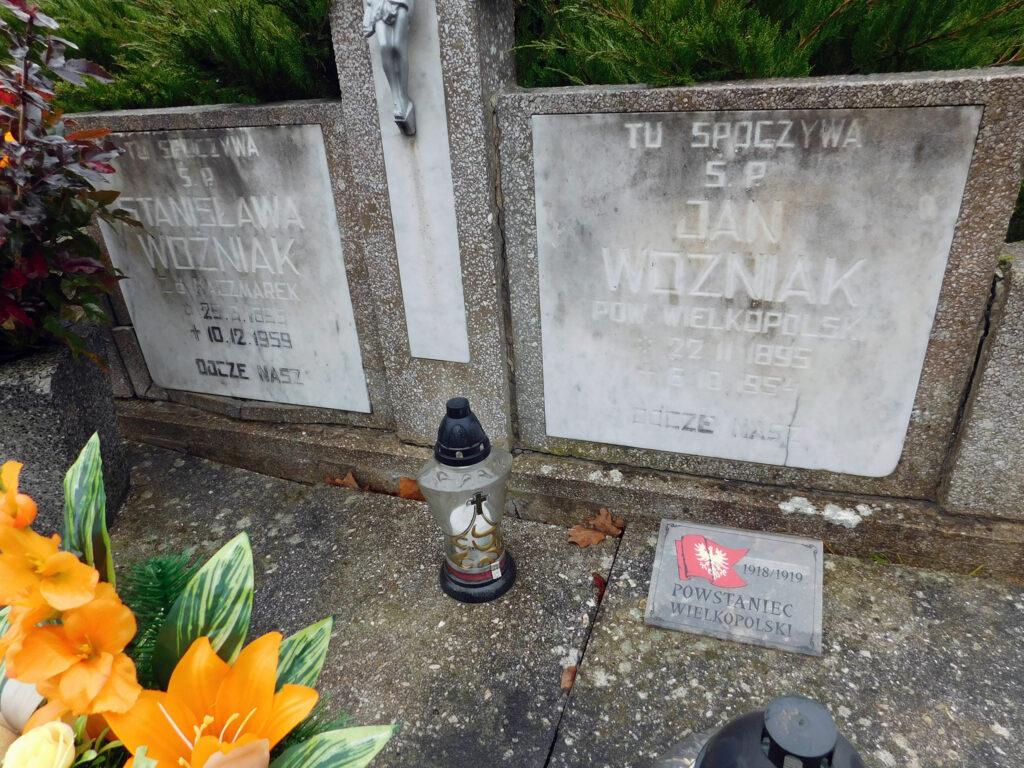 Jan Woźniak - cmentarz parafialny w Nekli (zdjęcie udostępnił Remigiusz Maćkowiak)