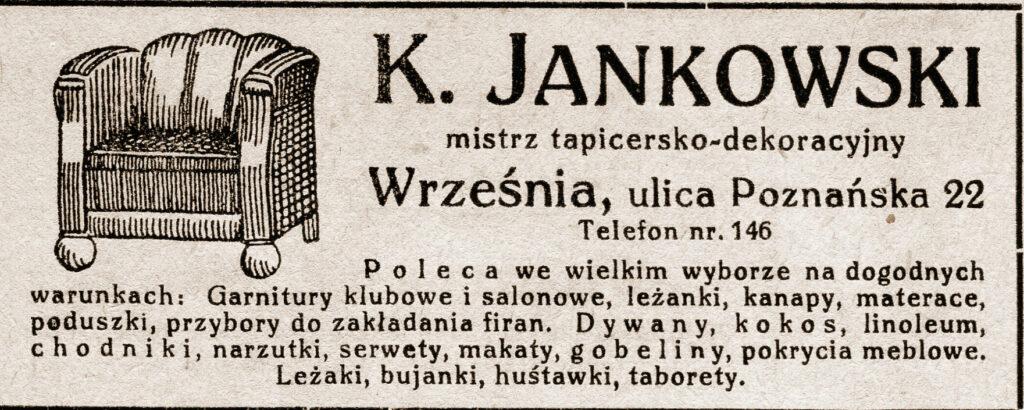 Karol Jankowski - ogłoszenie pochodzi z Katalogu Biblioteki Towarzystwa Czytelni Ludowych