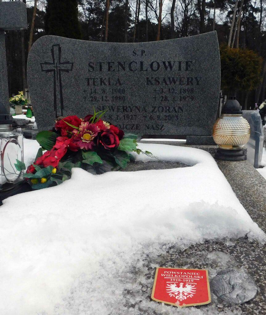 Ksawery Stencel - cmentarz komunalny we Wrześni (zdjęcie udostępnił Remigiusz Maćkowiak)