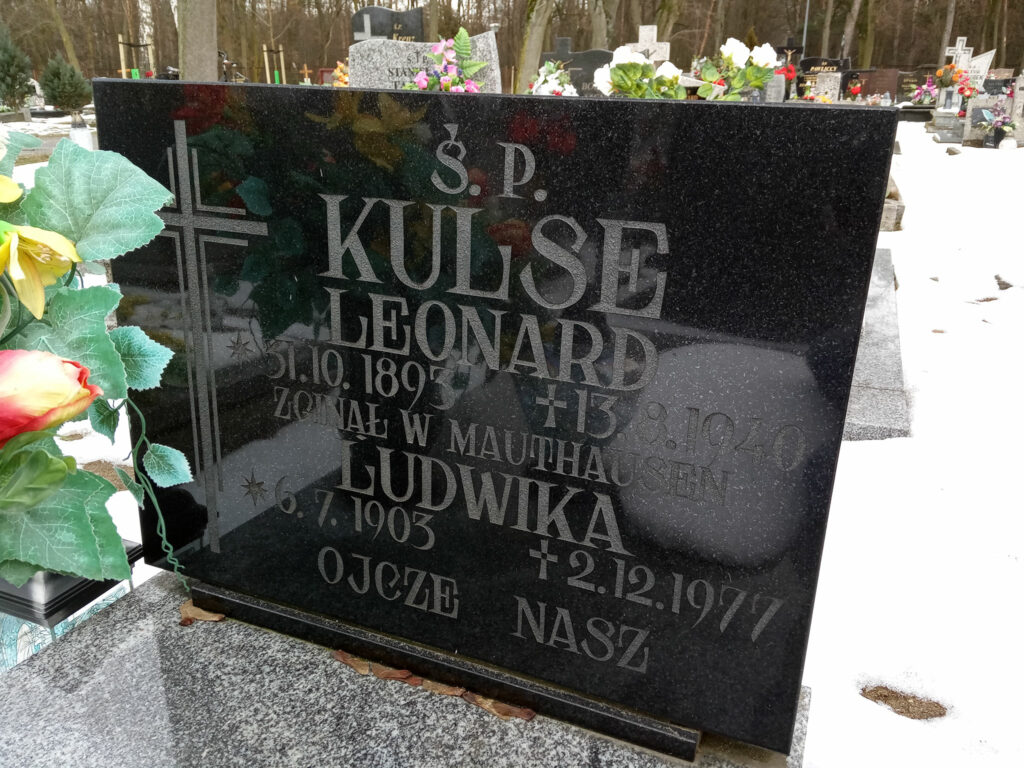 Leonard Kulse - cmentarz komunalny we Wrześni (zdjęcie udostępnił Remigiusz Mackowiak)