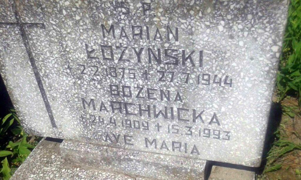 Marian Łożyński - cmentarz komunalny na Miłostowie