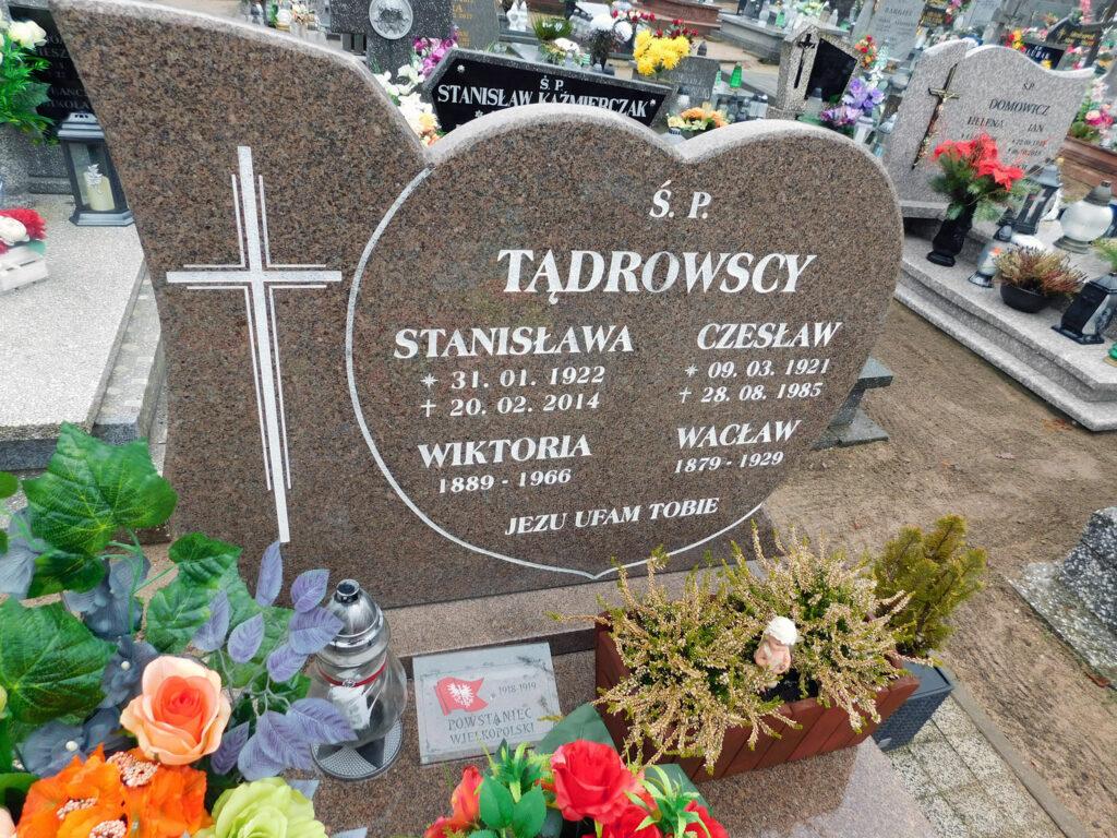 Wacław Tądrowski - cmentarz parafialny w Nekli. (zdjęcie udostępnił Remigiusz Maćkowiak)