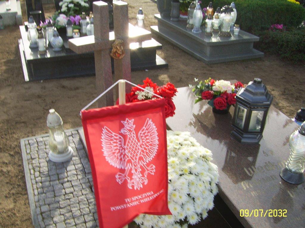 Grób Wacława Wętkowskiego na cmentarzu w Brudzewie. (zdjęcie udostępnił Janusz Dzikowski)