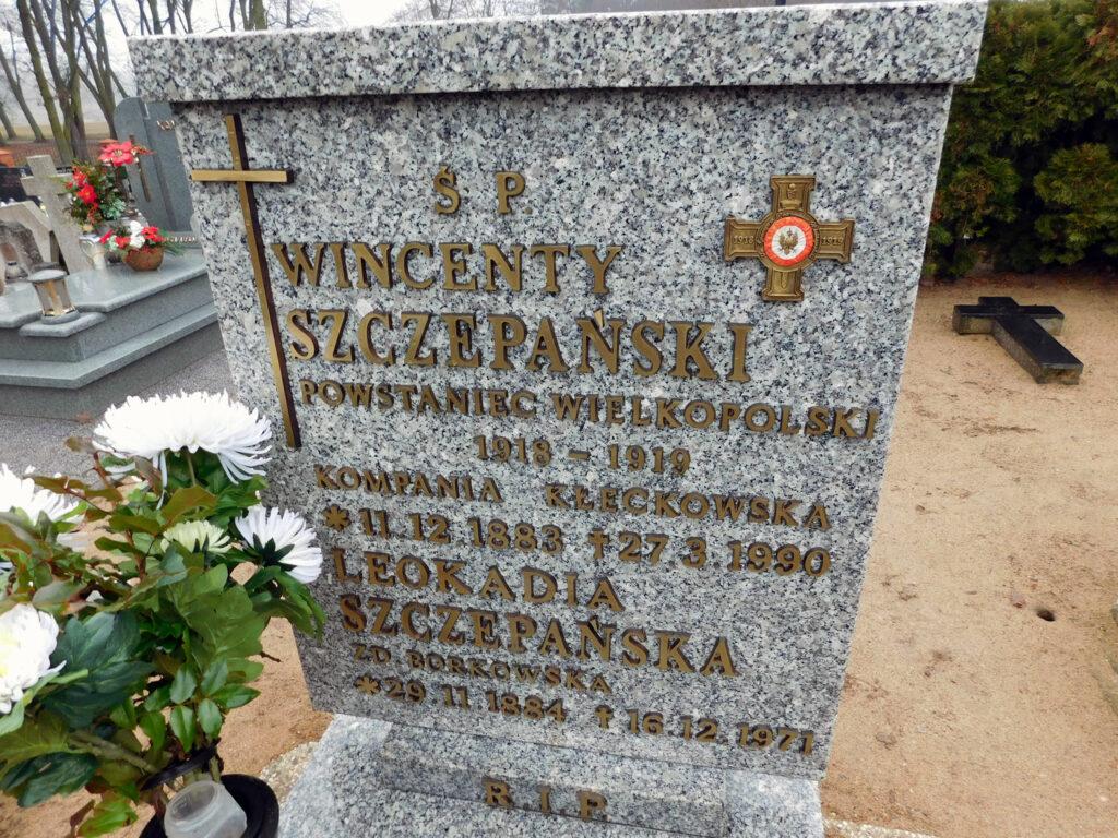Wincenty Szczepański - cmentarz parafialny w Nekli (zdjęcie udostępnił Remigiusz Maćkowiak)