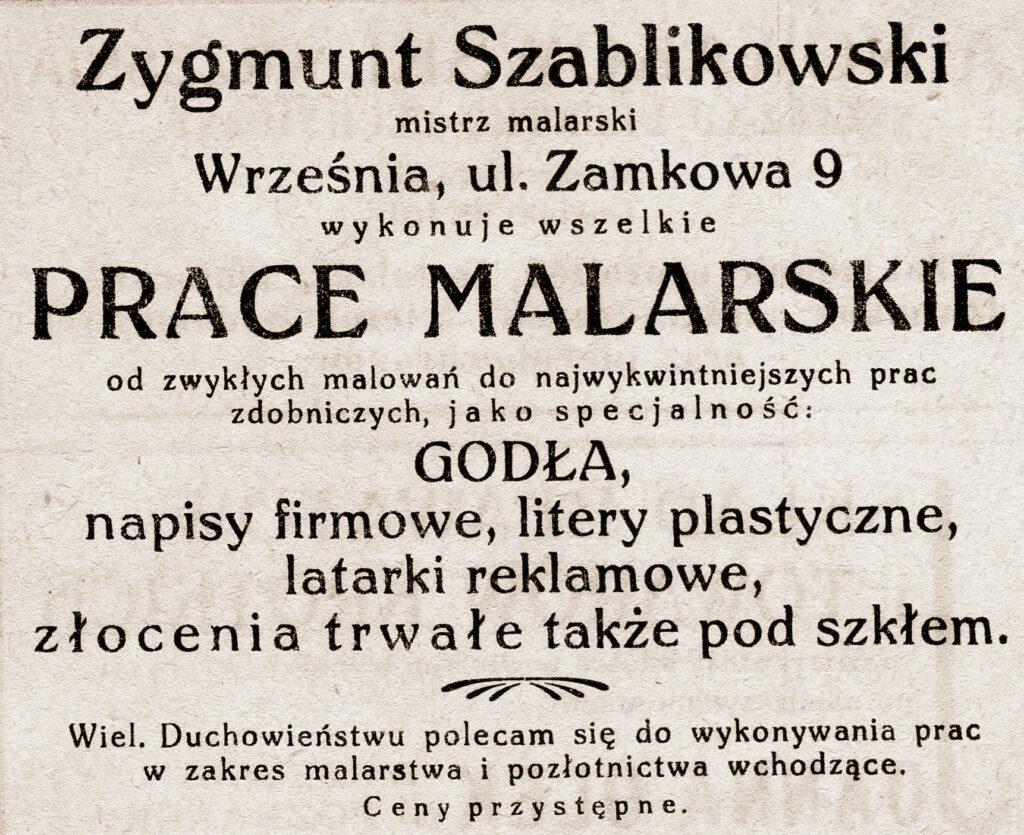 Zygmunt Szablikowski - ogłoszenie pochodzi z Katalogu Biblioteki Towarzystwa Czytelni Ludowych