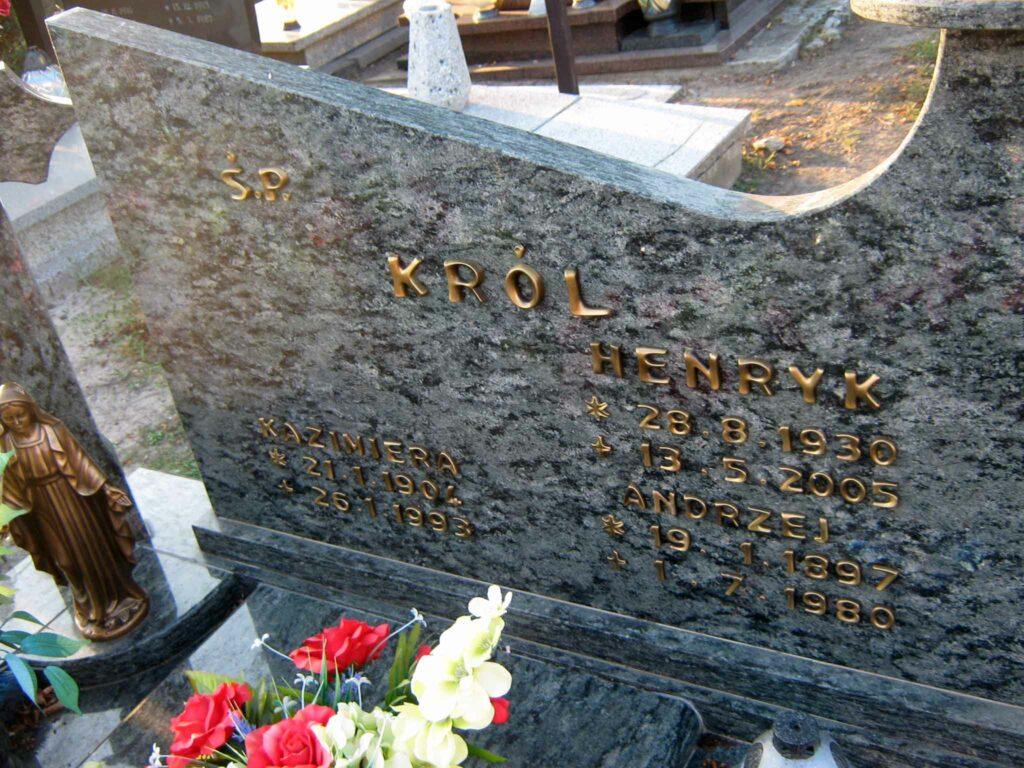 Andrzej Król - cmentarz w Marzeninie
