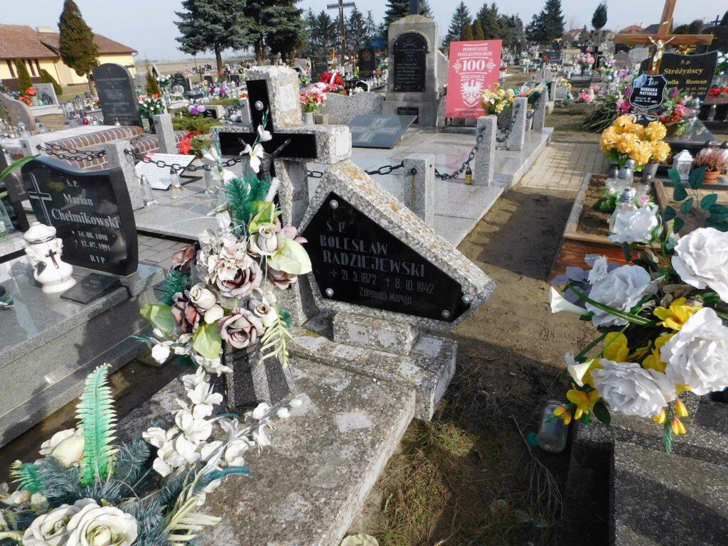 Bolesław Radziejewski - cmentarz w Miłosławiu (zdjęcie udostępnił Remigiusz Maćkowiak)