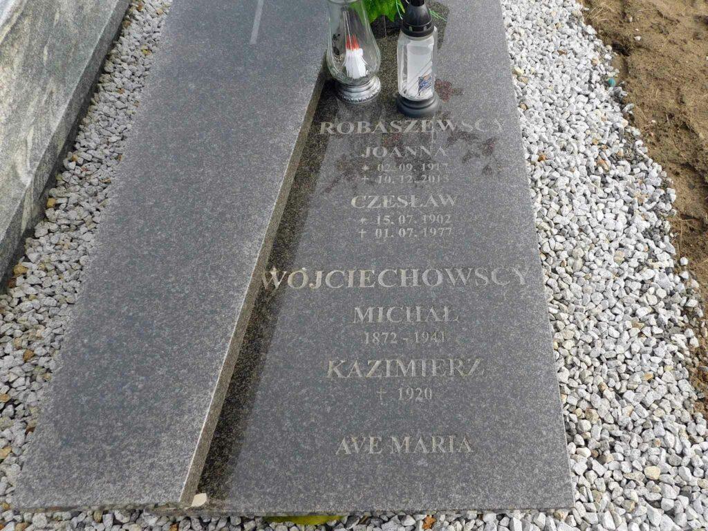 Czesław Robaszewski - cmentarz w Miłosławiu (zdjęcie udostępnił Remigiusz Maćkowiak)