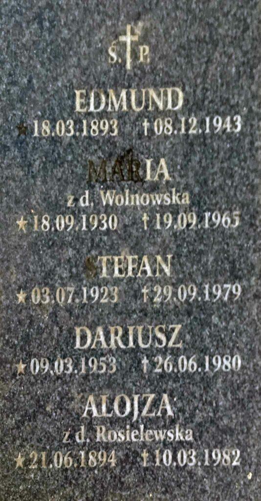 Edmund Trawiński - cmentarz parafialny we Wrześni (zdjęcie udostępnił Remigiusz Maćkowiak)