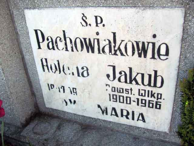 Jakub Pachowiak - cmentarz parafialny we Wrześni (grób przeniesiony na cmentarz komunalny we Wrześni)