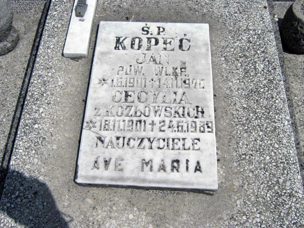 Jan Kopeć - cmentarz w Nekli (zdjęcie udostępnił Remigiusz Maćkowiak)