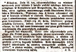 Jan Michalak - Postęp z 23.03.1919
