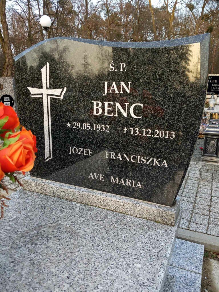 Józef Benc - cmentarz komunalny we Wrześni (zdjęcie udostępnił Remigiusz Maćkowiak)