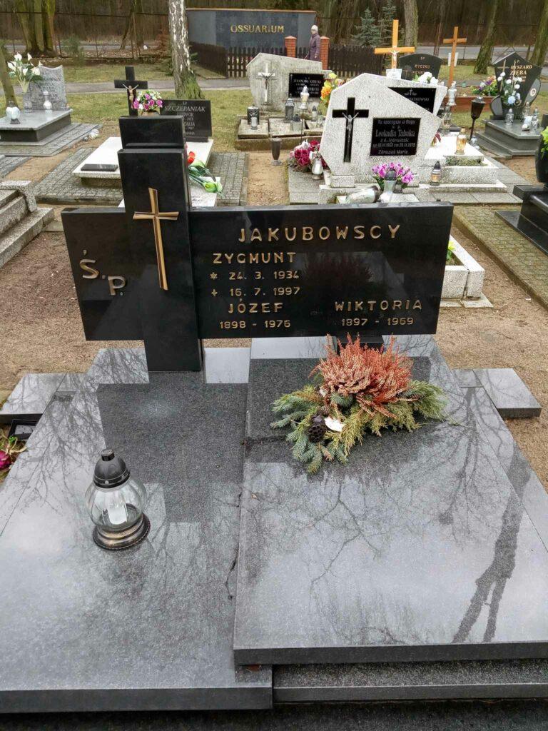 Józef Jakubowski - cmentarz komunalny we Wrześni (zdjęcie udostępnił Remigiusz Maćkowiak)