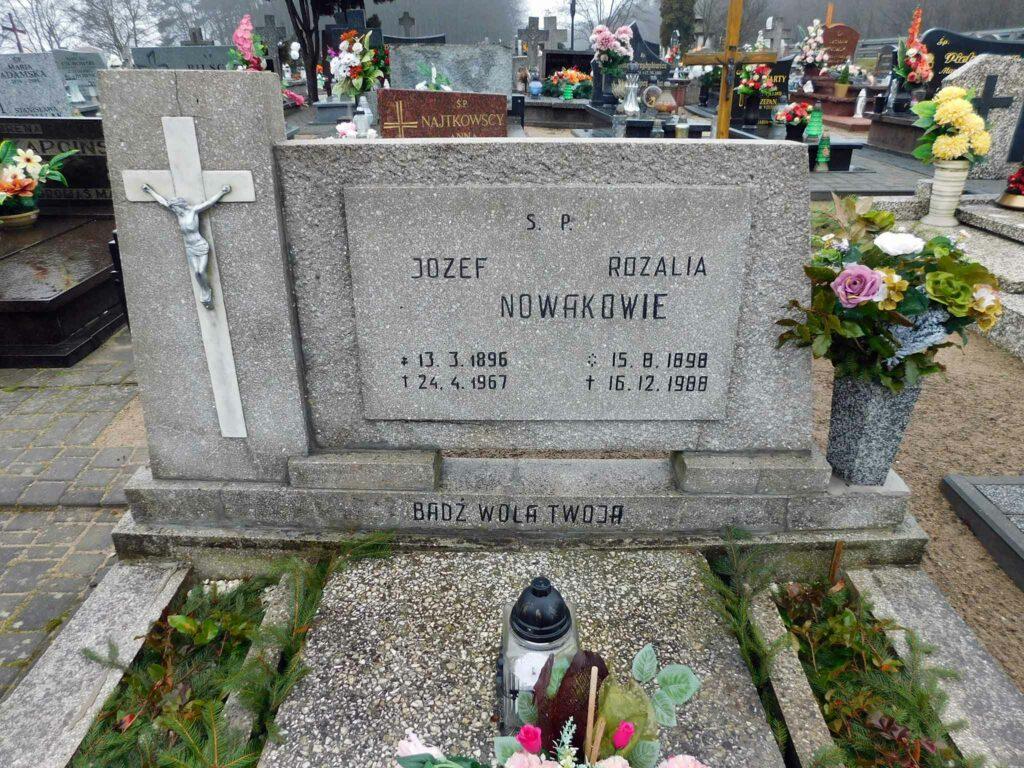 Józef Nowak - cmentarz parafialny w Nekli (zdjęcie udostępnił Remigiusz Maćkowiak)