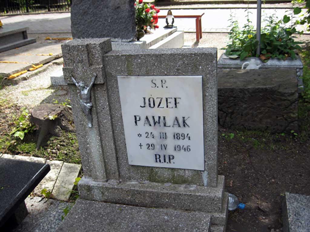 Józef Pawlak - cmentarz w Świebodzicach