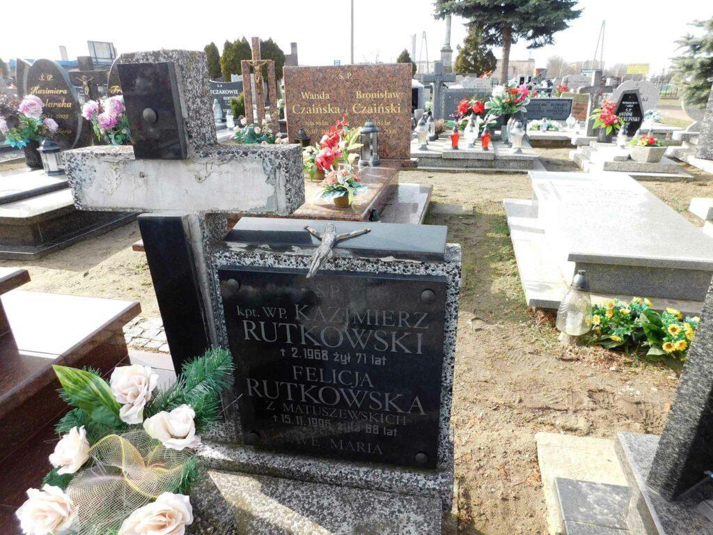 Kazimierz Rutkowski - cmentarz w Miłosławiu (zdjęcie udostępnił Remigiusz Maćkowiak)