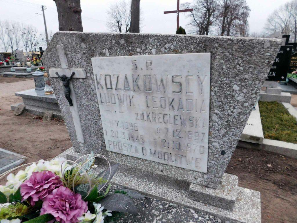 Ludwik Kozakowski - cmentarz parafialny w Węgierkach