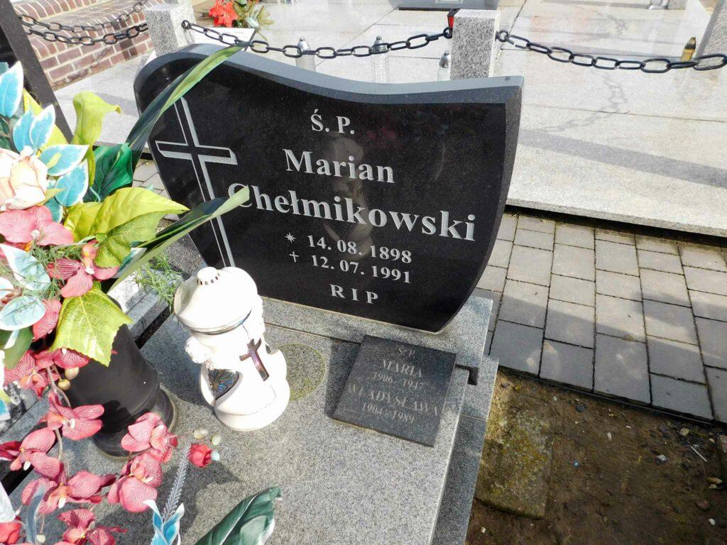 Marian Chełmikowski - cmentarz w Miłosławiu (zdjęcie udostępnił Remigiusz Maćkowiak)