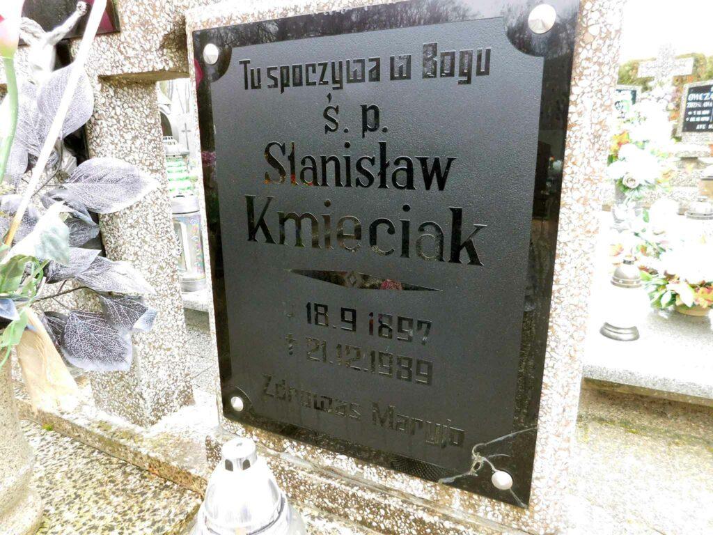 Stanisław Kmieciak - cmentarz w Nekli (zdjęcie udostępnił Remigiusz Maćkowiak)