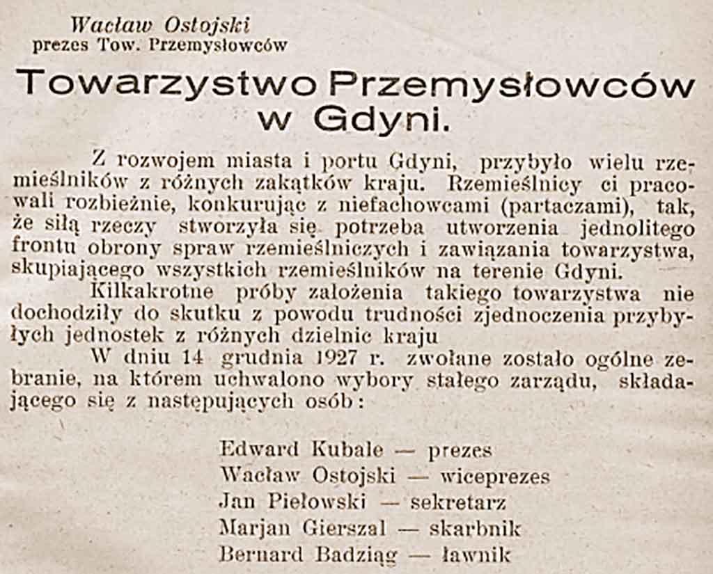 Wacław Ostojski - Wystawa rzemieślnicza w Gdyni Jednodniówka czerwiec 1934