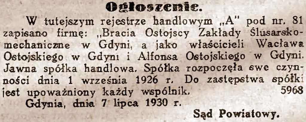 Wacław Ostojski - Dzień Bydgoski nr 5 z 1931 roku