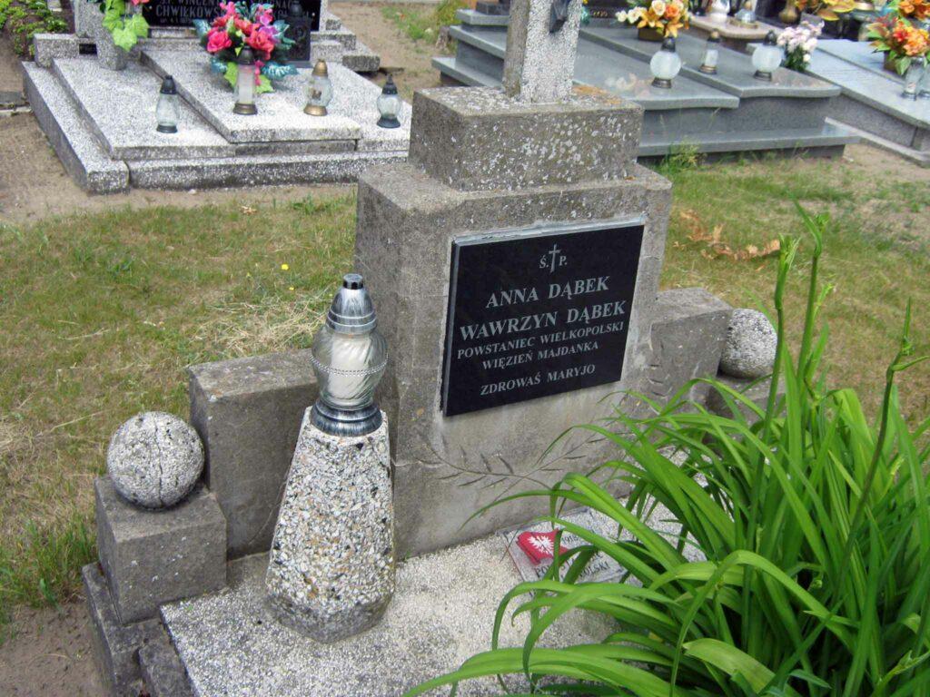 Wawrzyn Dąbek - cmentarz w Czeszewie (zdjęcie udostępnił Remigiusz Maćkowiak)