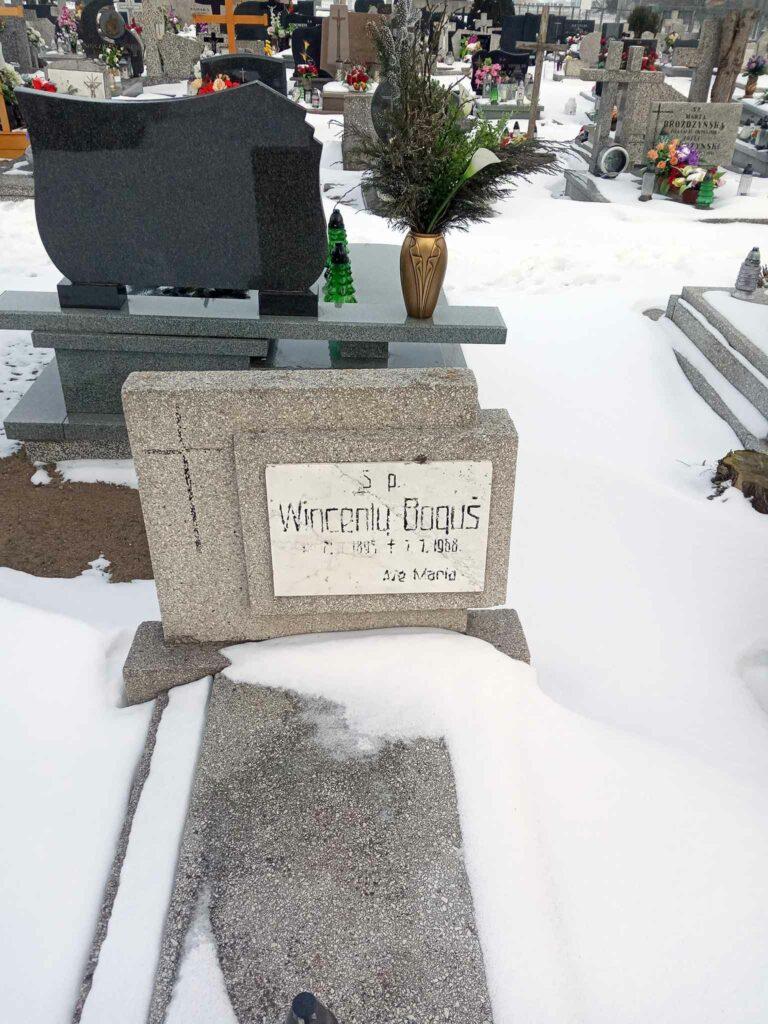 Wincenty Boguś - cmentarz parafialny w Kaczanowie (zdjęcie udostępnił Remigiusz Maćkowiak)