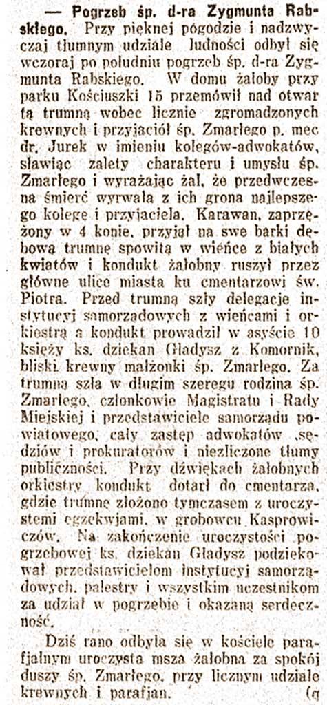 Zygmunt Rabski - Lech nr 49 z 1930