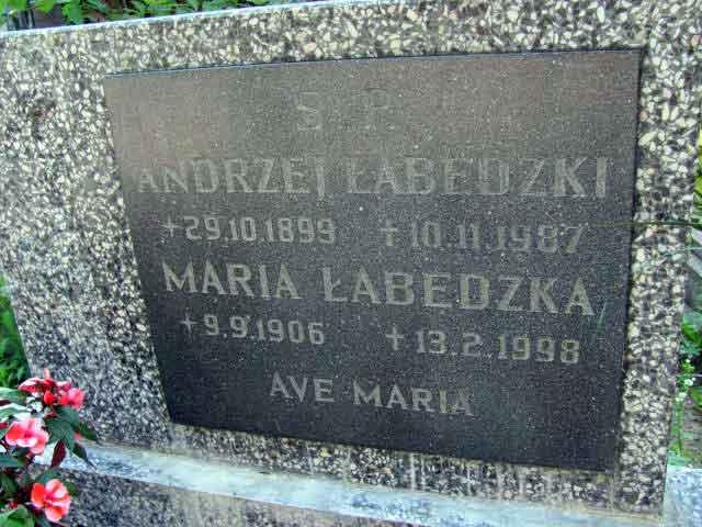 Andrzej Łabędzki - cmentarz witomiński w Gdyni