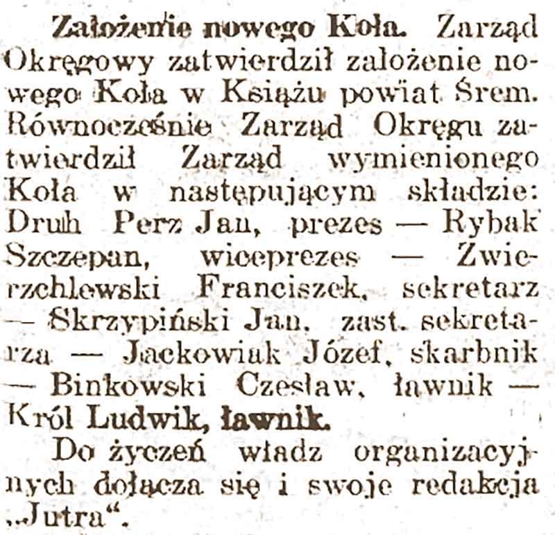 Czesław Bińkowski - Jutro nr 14 z 06.12.1936 roku