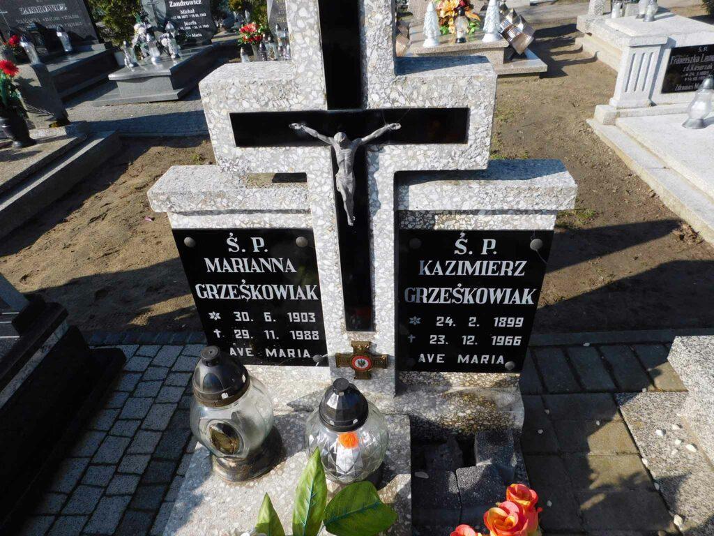 Kazimierz Grześkowiak - cmentarz parafialny w Winnej Górze (zdjęcie udostępnił Remigiusz Maćkowiak)