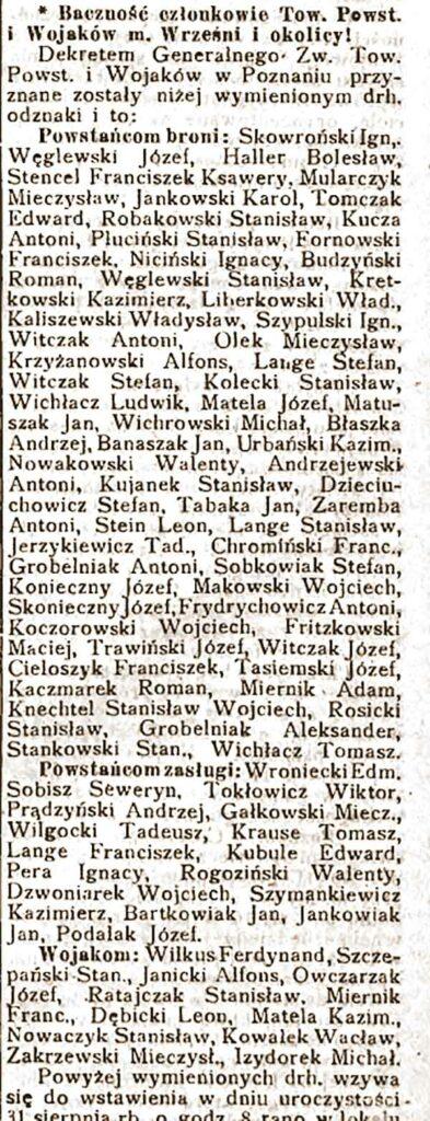 Orędownik Wrzesiński nr 98 z 21.08.1924 r. - Towarzystwo Powstańców i Wojaków we Wrześni