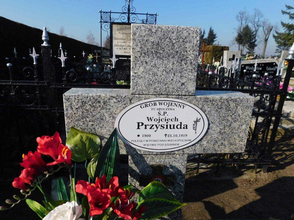 Wojciech Przysiuda - cmentarz parafialny w Winnej Górze (zdjęcie udostępnił Remigiusz Maćkowiak)