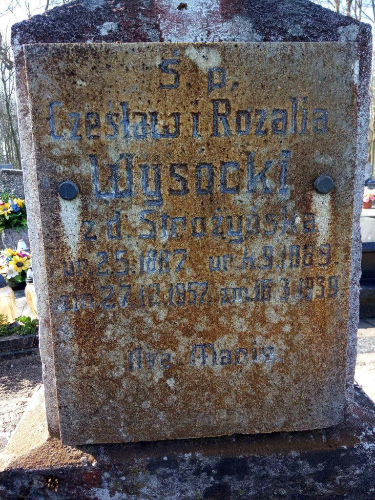 Czesław Wysocki - cmentarz parafialny w Nekli (zdjęcie udostępnił Remigiusz Maćkowiak)