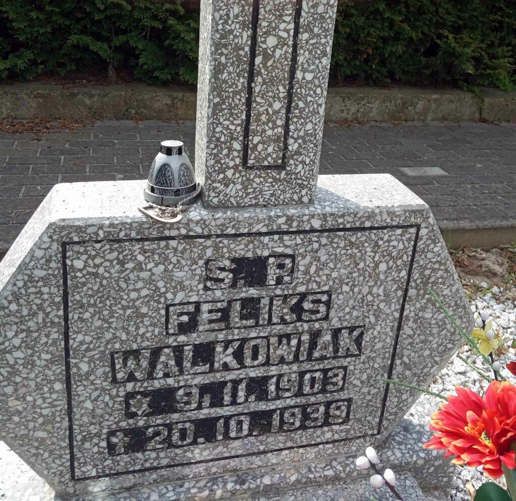 Feliks Walkowiak - cmentarz w Kostrzynie (zdjęcie udostępnił Remigiusz Maćkowiak)